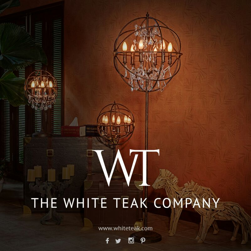 White teak furniture retail