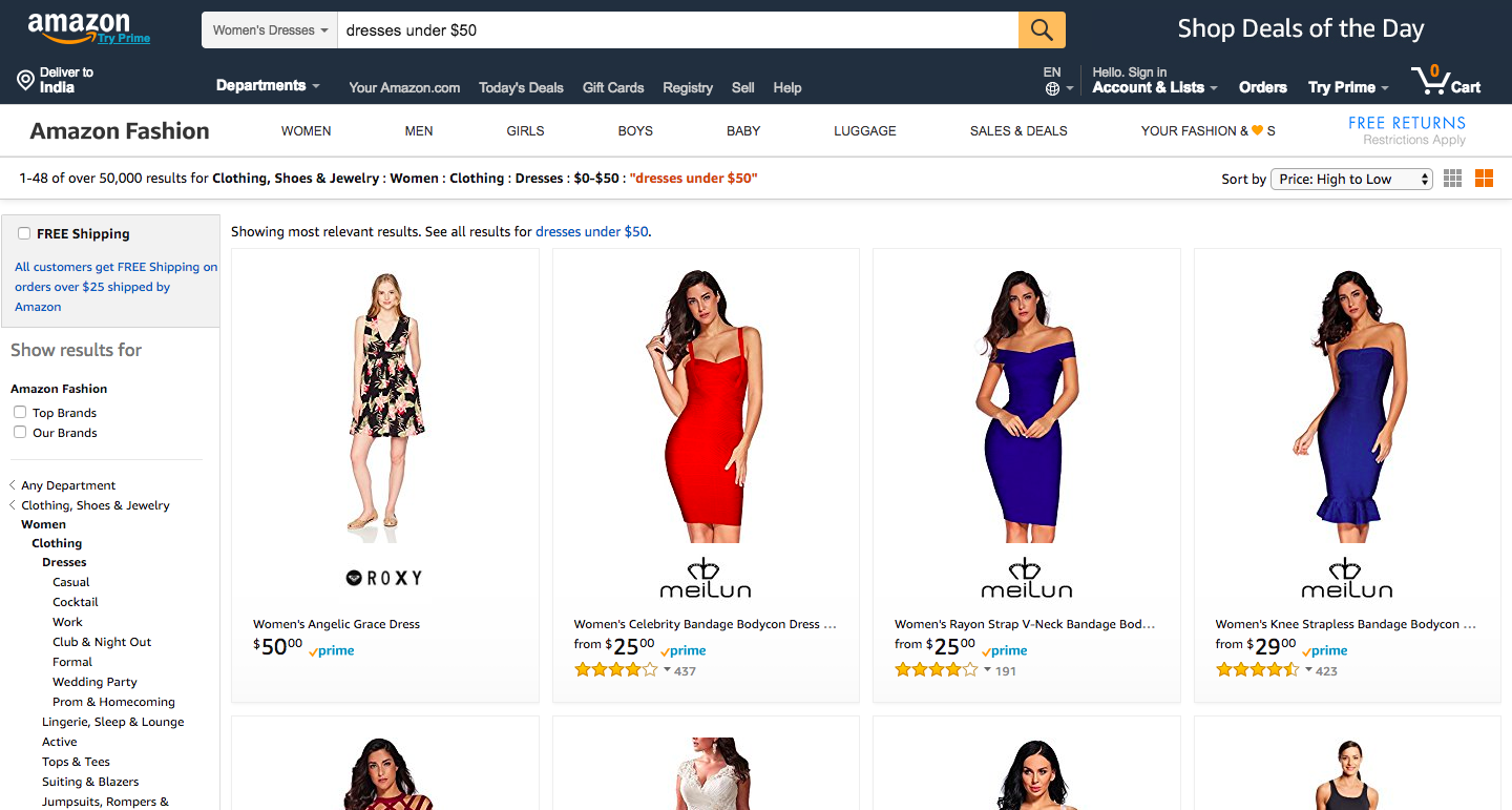 Amazon Semantic search