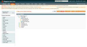 Adding products to Magento categories from the Manage products section