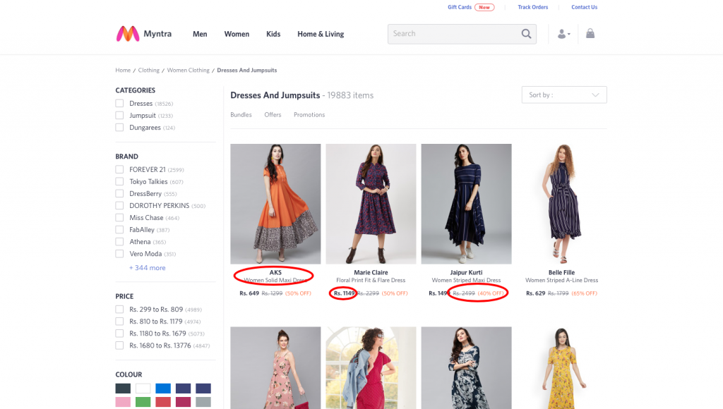 product details in eCommerce pages