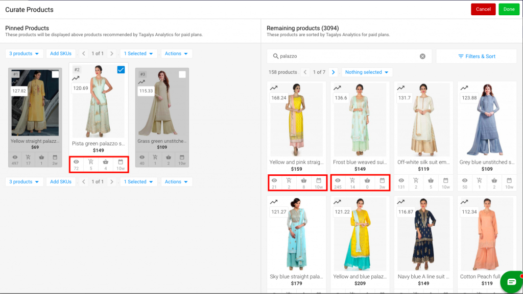 Product insights for merchandising