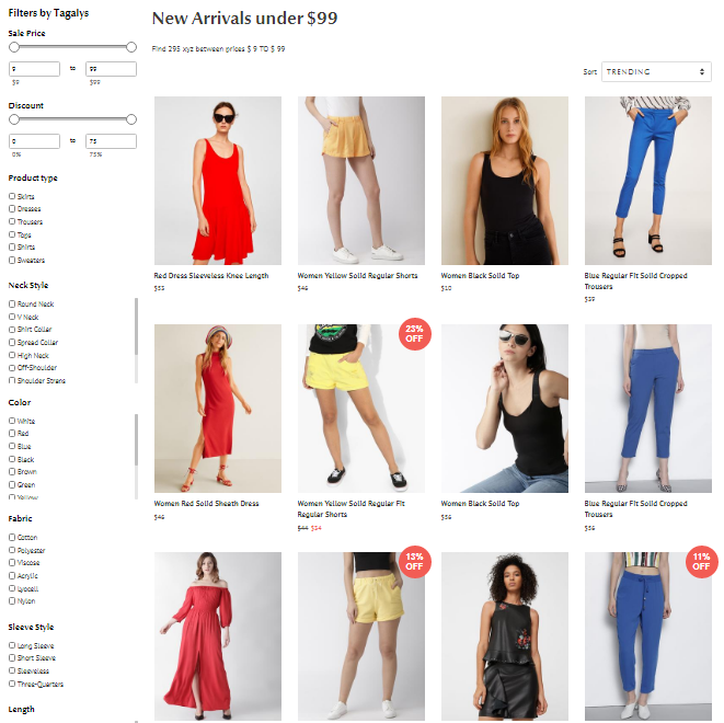 Product Sequencing in online stores
