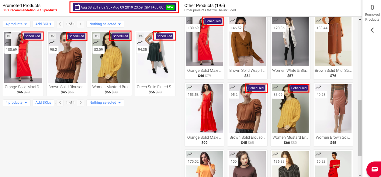 promoting products in eCommerce pages
