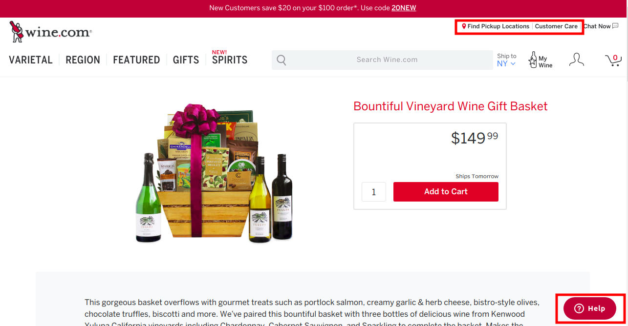 user friendly eCommerce product page