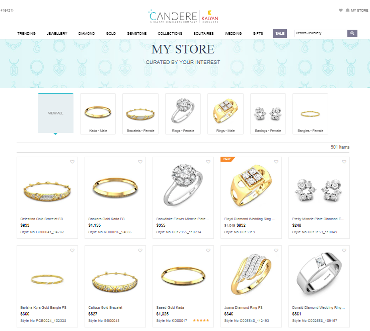 My store - eCommerce personalisation