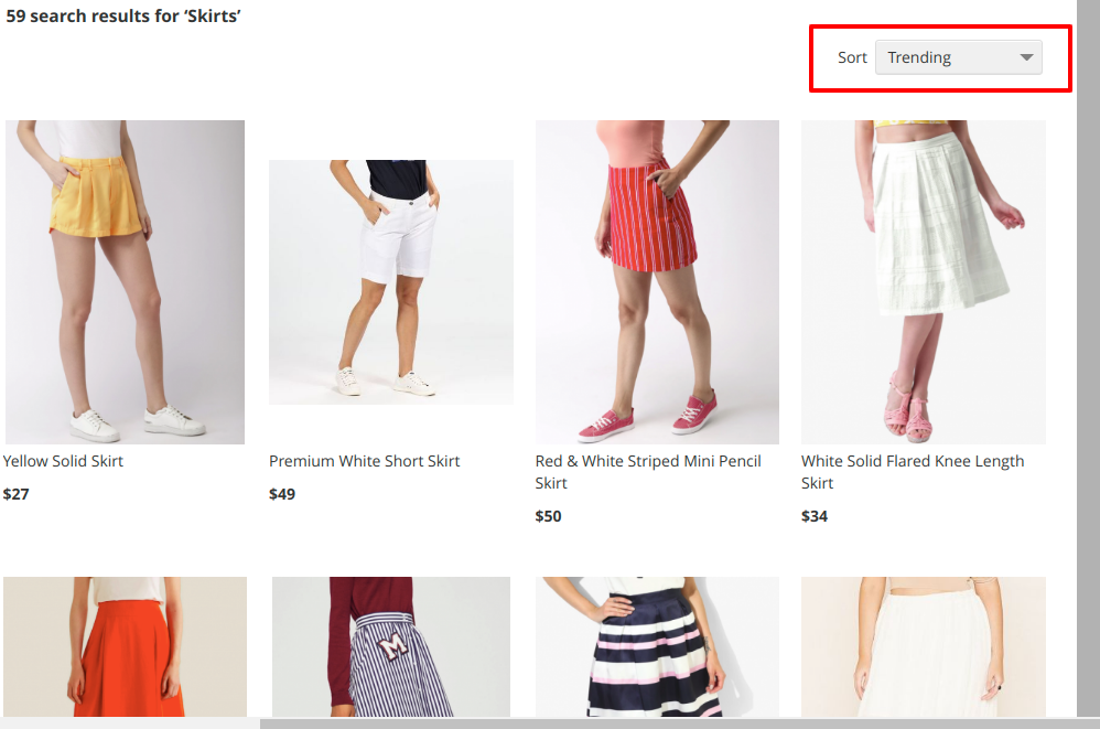 data driven sorting in eCommerce