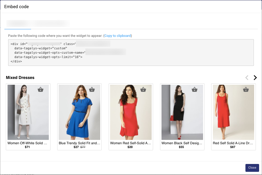 Dynamic email product recommendations