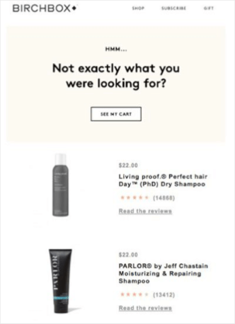 Birchbox email template