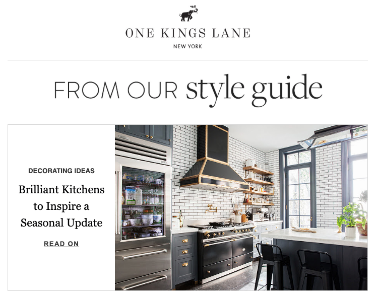 One Kings Lane email